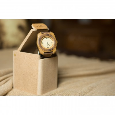 Handmade wooden watch.